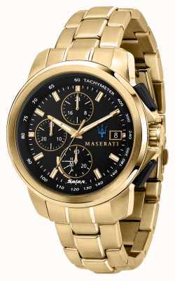 Maserati Successo solar heren verguld horloge R8873645002