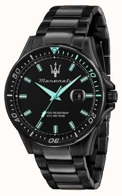 Maserati Sfida aqua edition zwart verguld horloge R8853144001
