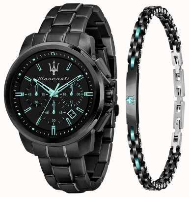 Maserati Aqua edition heren cadeauset horloge en armband R8873644004