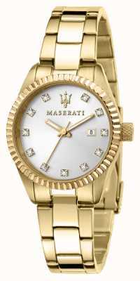 Maserati Dames competizione verguld horloge R8853100506