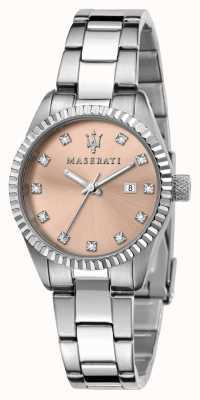 Maserati Dames competizione roze kristallen wijzerplaat R8853100509