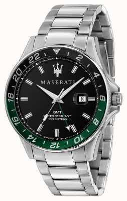 Maserati Sfida tweekleurige zwarte/groene bezel voor heren R8853140005