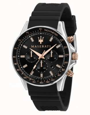 Maserati Sfida herenhorloge met siliconen band R8871640002