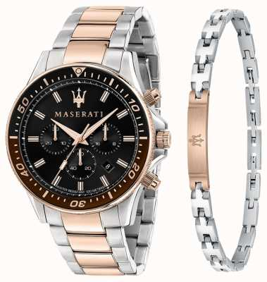 Maserati Sfida heren cadeauset armband en horloge R8873640010