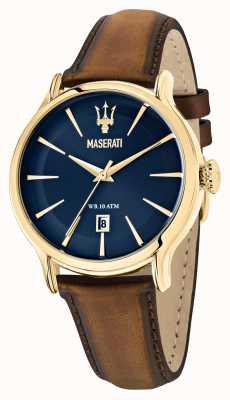 Maserati Epoca bruine leren herenband R8851118012
