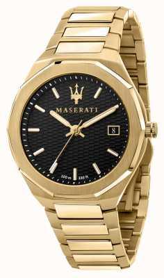 Maserati Herenstijl 3h data verguld horloge R8853142004