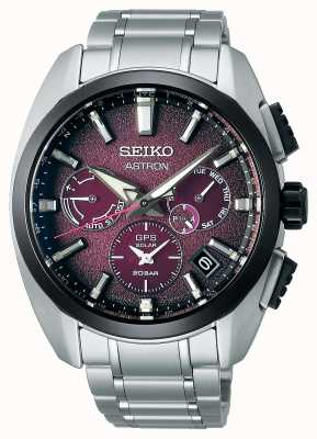 Seiko Astron global active ti limited edition paarse wijzerplaat SSH101J1