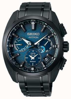 Seiko Astron global active ti limited edition blauwe wijzerplaat SSH105J1