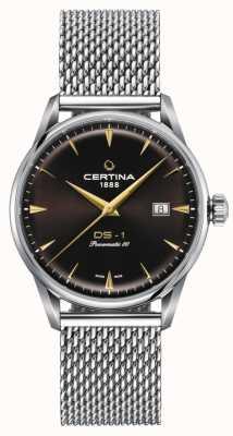 Certina Ds-1 powermatic 80 horloge met bruine wijzerplaat C0298071129102