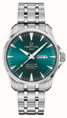 Certina Ds action day-date powermatic 80 groene wijzerplaat C0324301109100