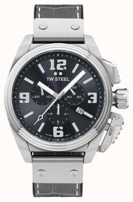 TW Steel Canteen grijs horloge met leren band TW1013