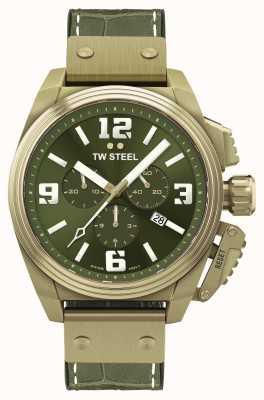 TW Steel Kantine brons pvd vergulde groene wijzerplaat TW1015