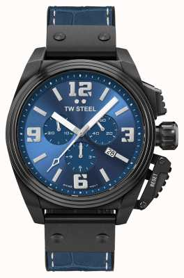 TW Steel Kantine zwarte pvd vergulde blauwe wijzerplaat TW1016