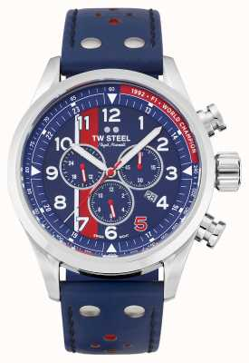 TW Steel | volante | nigel mansell limited edition | blauwe chronograaf | SVS307