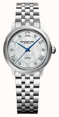 Raymond Weil Dames | maestro | automatisch | parelmoer wijzerplaat | roestvrijstalen armband 2131-ST-00966