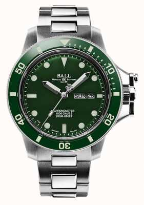 Ball Watch Company Heren ingenieur koolwaterstof originele (43 mm) groene wijzerplaat DM2218B-S2CJ-GR