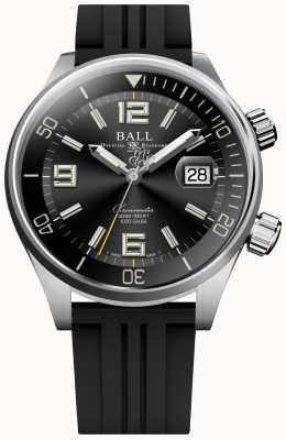 Ball Watch Company Duiker chronometer zwart rubberen band horloge strap DM2280A-P2C-BK