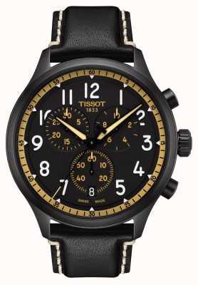Tissot Chrono xl vintage zwart/goud horloge T1166173605202