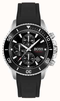 BOSS | admiraal athleisure | zwarte rubberen band | 1513912