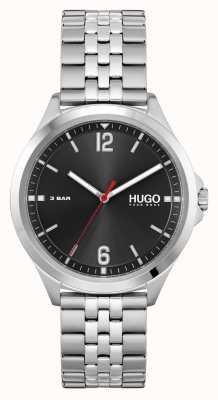 HUGO #pakbedrijf | zwarte wijzerplaat | roestvrijstalen armband 1530216