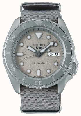 Seiko 5 sport cement collectie nato 42,5 mm horloge SRPG61K1
