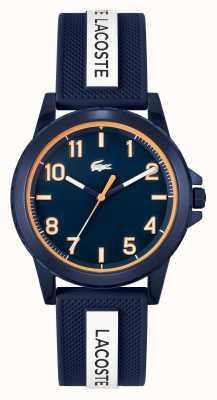 Lacoste Rider blauw en wit horloge met siliconen band 2020142