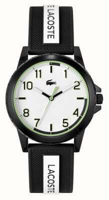 Lacoste Rider zwart-wit horloge met siliconen band 2020141
