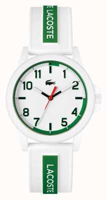 Lacoste Rider wit en groen horloge met siliconen band 2020140