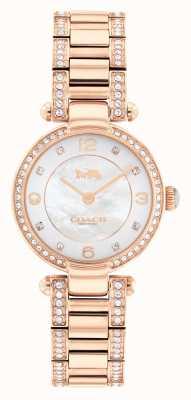 Coach Cary horloge met roségouden kristallen set 14503838