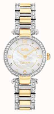 Coach Cary tweekleurig horloge met kristallen set 14503840