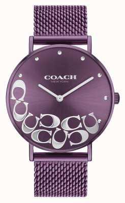 Coach Perry paars mesh armbandhorloge voor dames 14503823