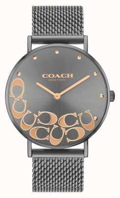 Coach Perry grijs mesh armbandhorloge voor dames 14503825