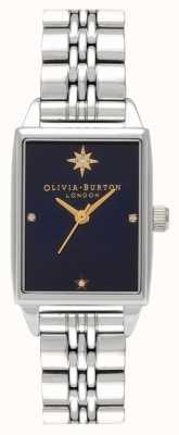 Olivia Burton Celestial North Star roestvrijstalen rechthoekige wijzerplaat OB16GD88