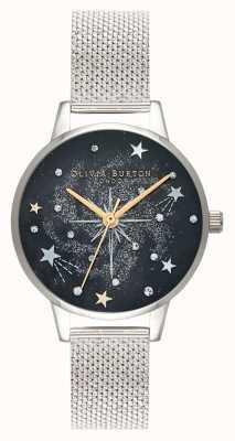 Olivia Burton Celestial starburst zilveren mesh band OB16GD85