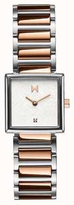 MVMT Frost vierkante kast rosé vergulde stalen armband 28000147-D