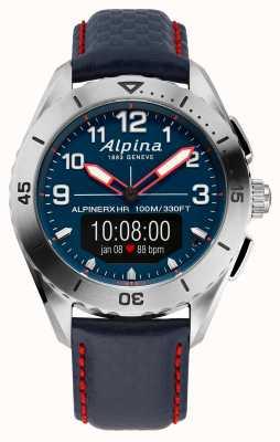 Alpina | alpinerx | smartwatch | blauwe leren band | AL-284LNNR5SSAQ6L