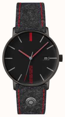 Junghans Vorm een editie 160 horloge met zwarte wijzerplaat 27/4131.00