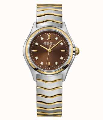 EBEL Wave dames dual-tone diamanten horloge 1216318