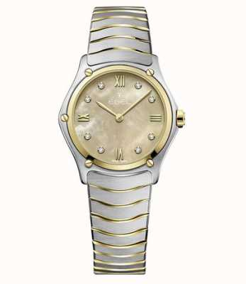 EBEL Sport klassiek tweekleurig 18k geel gouden horloge 1216488A