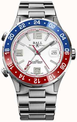 Ball Watch Company Roadmaster pilot gmt limited edition witte wijzerplaat DG3038A-S2C-WH