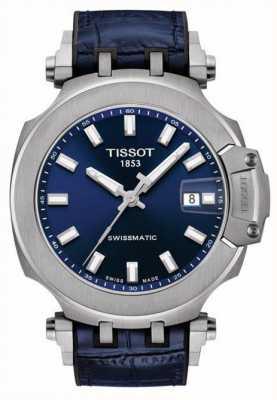 Tissot Swissmatic t-race | blauwe wijzerplaat | blauwe leren band T1154071704100