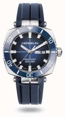 Michel Herbelin Newport duiker blauwe rubberen band 1774/BL15CB