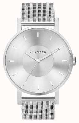 Klasse14 Volare zilveren 42 mm roestvrijstalen mesh-armband VO14SR002M