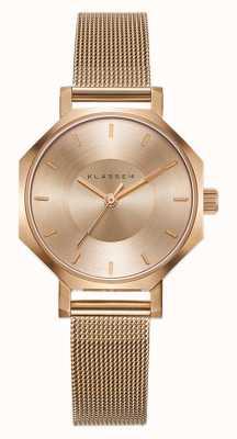 Klasse14 Okto gouden milanese mesh armband 28mm OK17RG002S