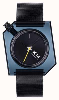 Klasse14 K14 donkere 40 mm zwarte milanese mesh armband WKF20BK001M
