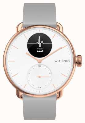 Withings Scanwatch 38mm roségouden hybride smartwatch met ecg HWA09-MODEL 5-ALL-INT