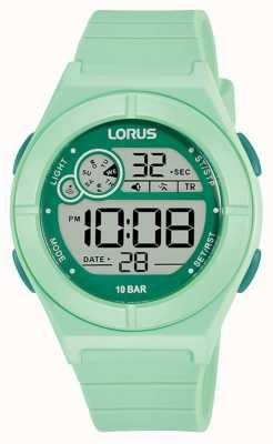 Lorus Digitaal horloge mintgroen siliconen bandje R2369NX9