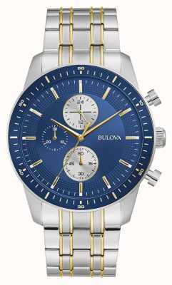 Bulova Klassieke sport | chrono | blauwe wijzerplaat | tweekleurige armband 98A243