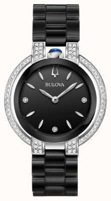 Bulova Rubaijat | diamant | zwarte wijzerplaat | zwarte keramische armband 98R266