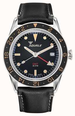 Squale Heren 300m sub 39 gmt vintage lederen band SUB-39-GMT-V
